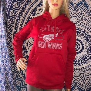 Adidas Hoodie Med Detroit Redwing Team Pull Over